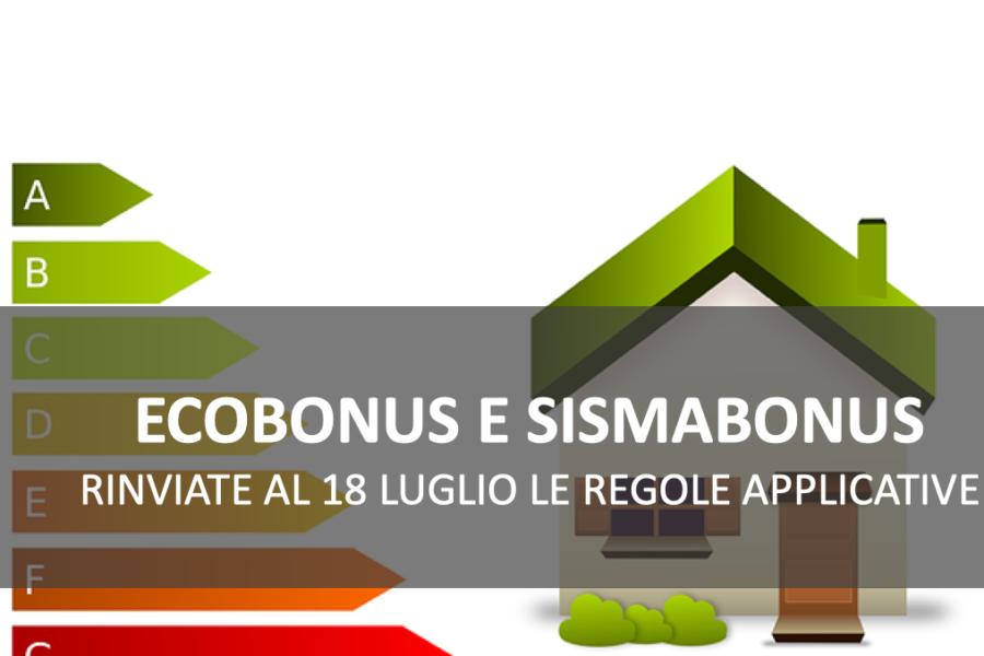 Ecobonus 110%, rinviate al 18 Luglio le regole attuative